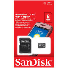 MICRO SDHC SANDISK 8 GB